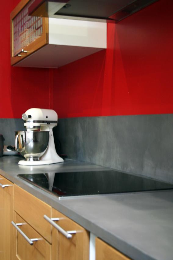 plan de travail de cuisine et cr dence en b ton cir flore molinaro. Black Bedroom Furniture Sets. Home Design Ideas