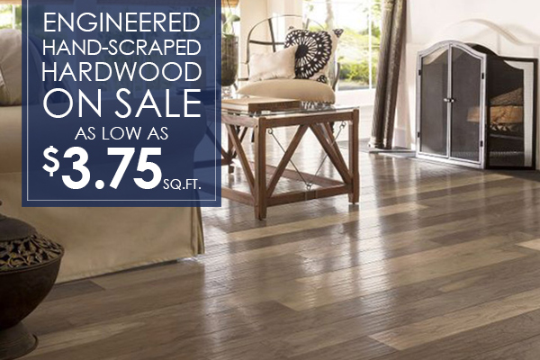 Engineered Handscraped Hardwood On Sale As Low as 375 sqft  Florence Sc  Florence
