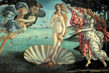 Sandro Botticelli, Nascita di Venere (1482–1485 circa), tempera su tela, Galleria degli Uffizi, Firenze