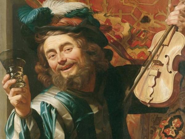 Gherardo delle Notti, Violinista allegro, olio su tela, Amsterdam, Rijksmuseum