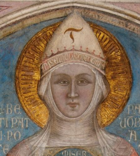Madonna della Misericordia  Loggia del Bigallo, in Piazza Duomo,  detail