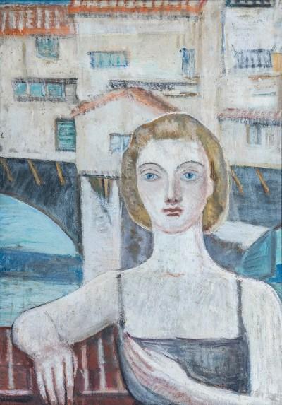figura-femminile-sullo-sfondo-del-ponte-vecchio-1976-ca