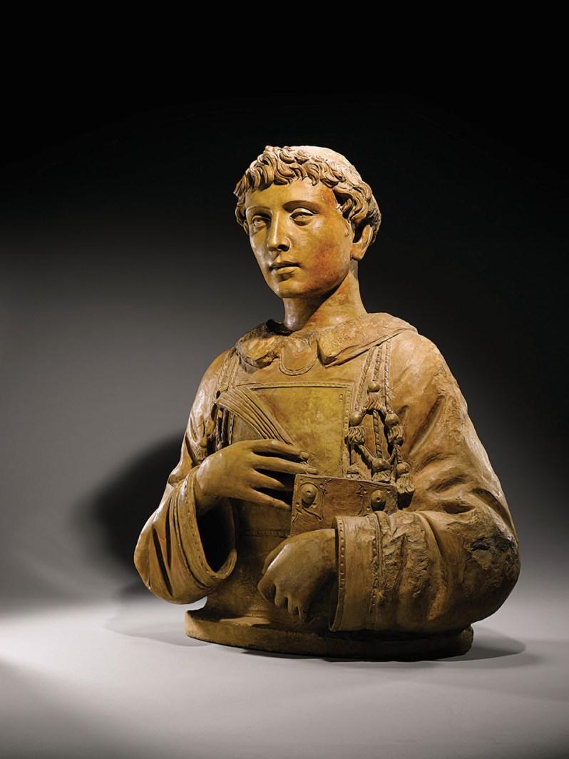 Donatello, San Lorenzo, around 1440, terracotta, Collection of Peter Silverman and Kathleen Onorato