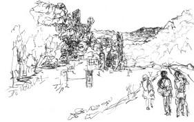 Au bord du Doubs aprés le tunnel de Thoraise