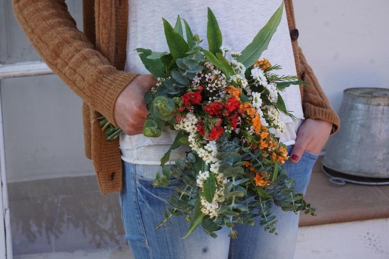 Ramo de novia discreto pero coqueto Flores en el Columpio