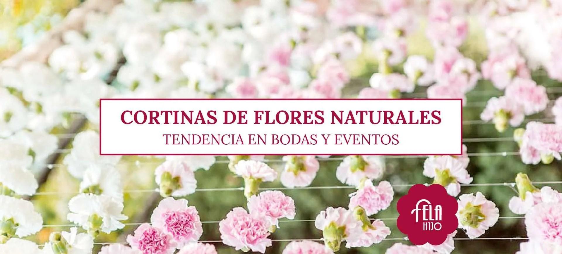 Cortinas de flores naturales para bodas y eventos  Flores