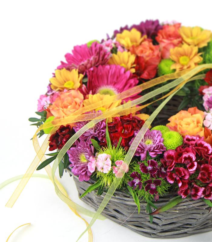 Centro de flores circular