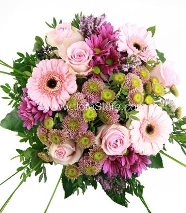 Bouquet tonos rosados