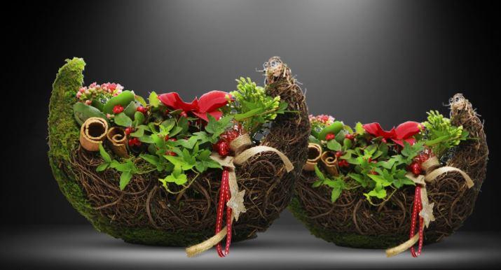 Ideas para decorar con flores la mesa en navidad florestore for Ideas para decorar la mesa de navidad
