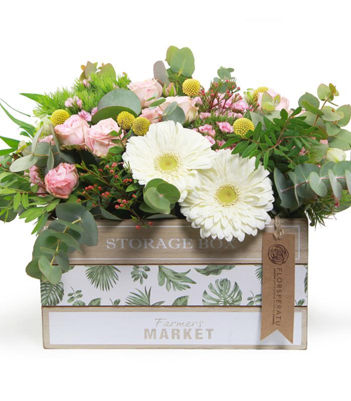 Latita con flores para el Dia de la Madre