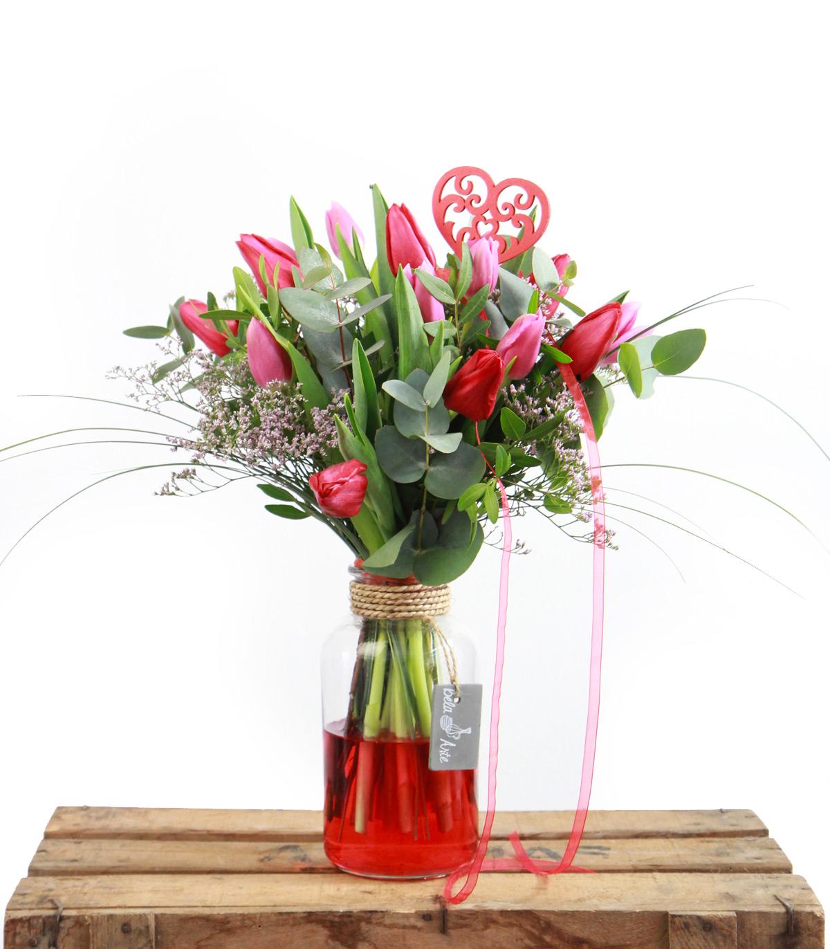 Ramo de Tulipanes para San Valentin