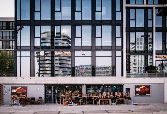 HafenCity während der Covid 19 Pandemie / Corona Hamburg