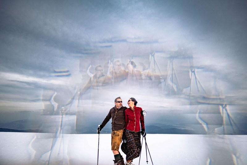 paarfotos im schnee