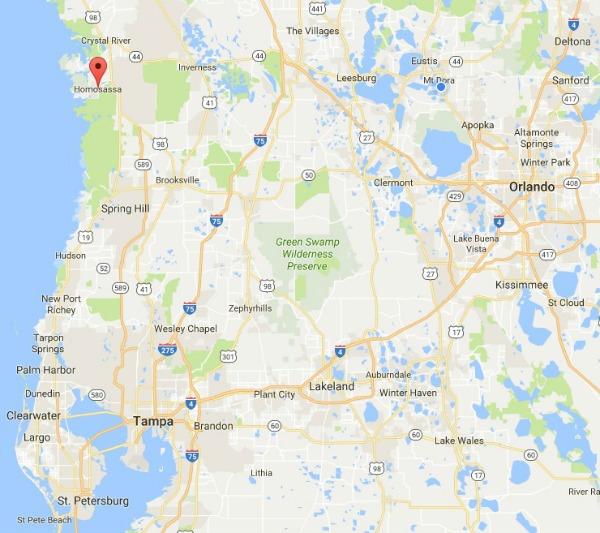 Homosassa Florida Map.Street Map Homosassa Florida