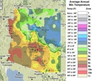 Arizona USDA Zones