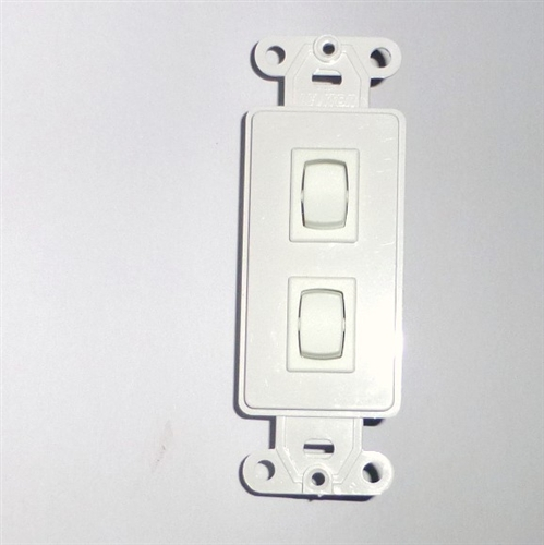 Double Decorator Switch Momentary Wall Switch 1800425