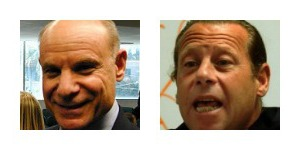 State Attorney Mike Satz, left, and Public Defender Howard Finkelstein