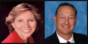 Cooper City Commissioner John Sims and former Mayor Debby Eisinger