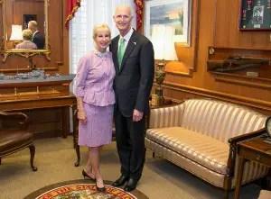 Governor Rick Scott and First Lady Ann Scott Photo: Meredyth Hope Hall