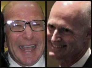 "Lobbyist William ""Billy"" Rubin, left, and Gov. Rick Scott"