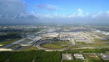 Fort Lauderdale-Hollywood International Airport. The new elevated south runway is on the left.