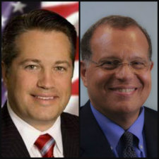 Broward Commissioner Chip LaMarca, left, and Broward Health's late CEO Dr. Nabil El Sanadi