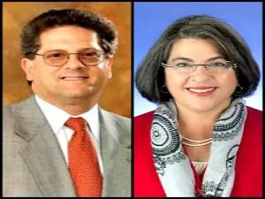 FAU professor Frank Schnidman and Miami-Dade Commissioner Daniella L. Cava