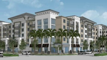 A rendering from Miami's proposed Liberty Square redevelopment project