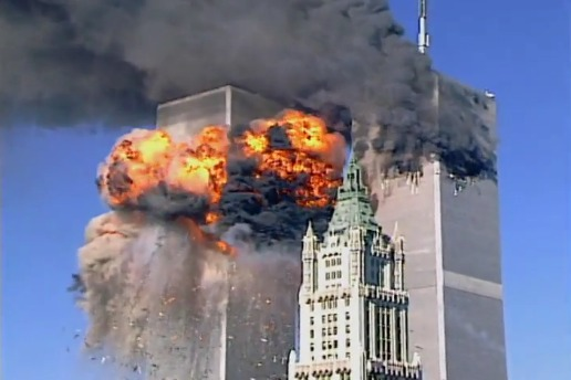 Huge explosion at World Trade Center on 9/11