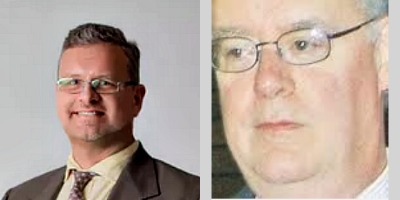 headshots of judge john olson and steven fender