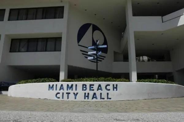 Entrance to Miami Beach City Hall