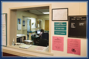 Front Check-In Desk at Florida Chiropractic Insitute