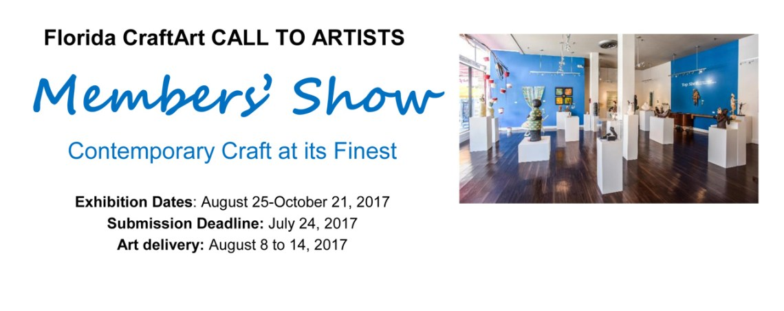 Call to Artists florida crafters Members Show