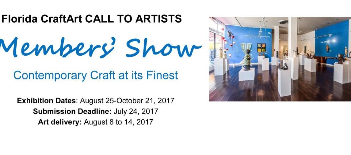 Florida CraftArt Members Show & Sale