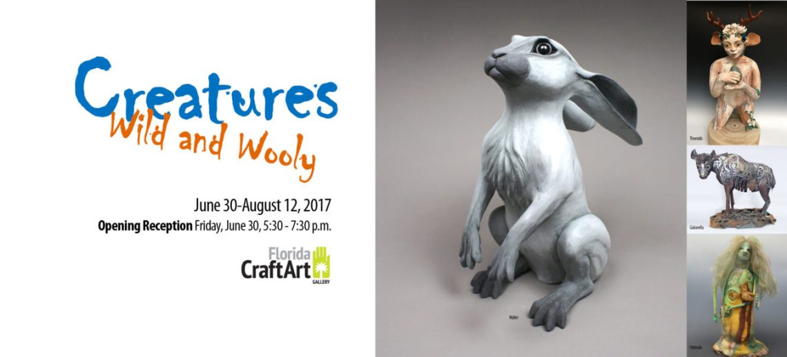 creatures wild and wooly exhibition at florida craftart