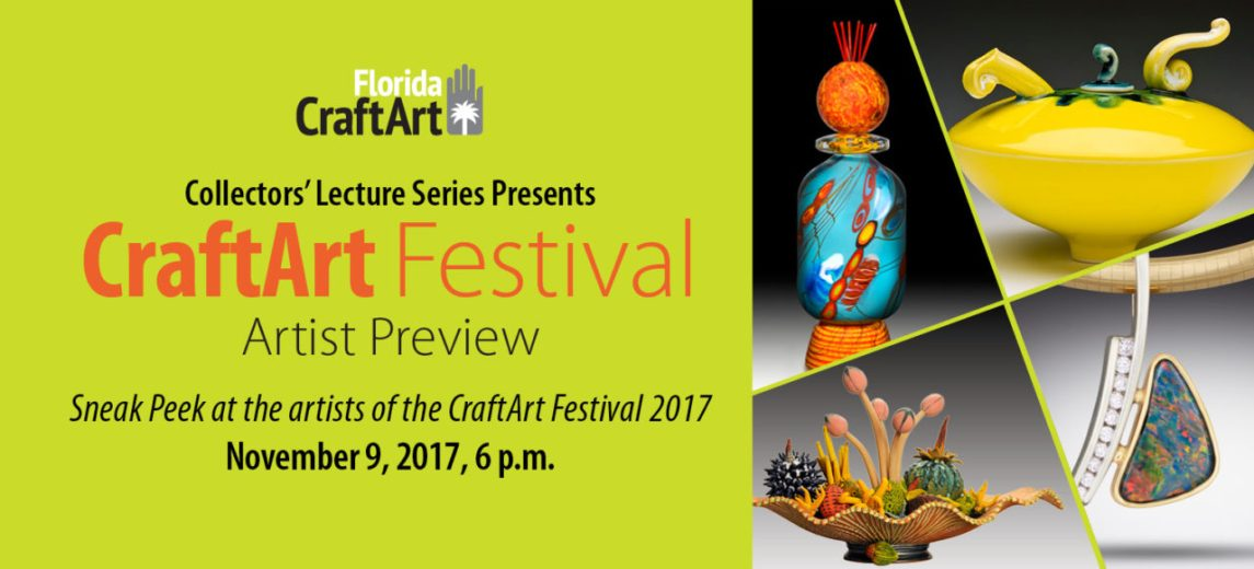 Collectors' Lecture Series: CraftArt Preview