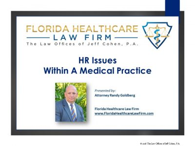 HR Issues Within a Medical Practice
