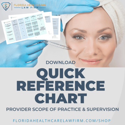 Provider Scope of Practice and Supervision Chart