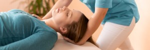 Female,Physiotherapist,Or,A,Chiropractor,Adjusting,Patients,Neck.,Physiotherapy,,Rehabilitation