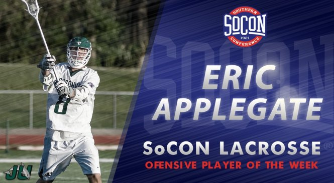 JU Men:  Ponte Vedra's Eric Applegate Named SoCon Offensive Player of the Week!