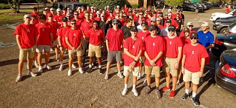 Tampa Men's Lacrosse Volunteers With the Wounded Warrior Project