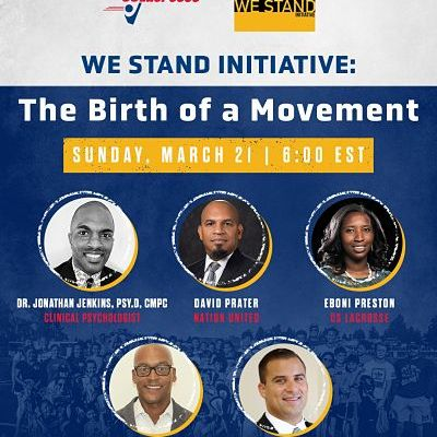 The We Stand Initiative Webinar Will Air Sunday Night at 6:00pm