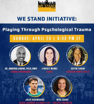 Episode 2 of the We Stand Initiative Discussion Series – Sunday, April 25th at 6:00pm!