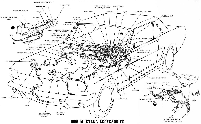 66 mustang engine wiring