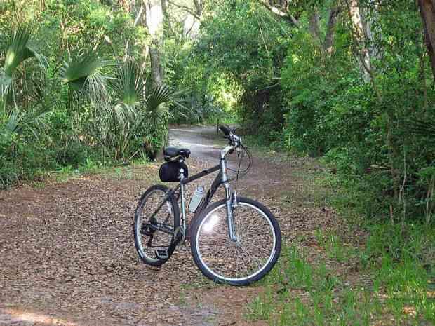 Hidden bike trail in New Smyrna Beach