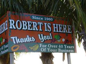 Florida find: Robert Is Here fruit stand, Homestead