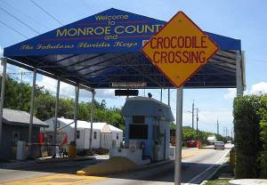 Alabama Jack's crocodile crossing sign, Florida Keys