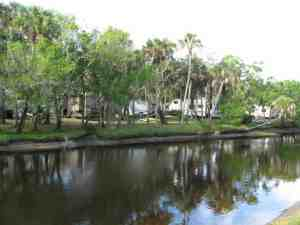 Waterfront campsites at Camp Venice