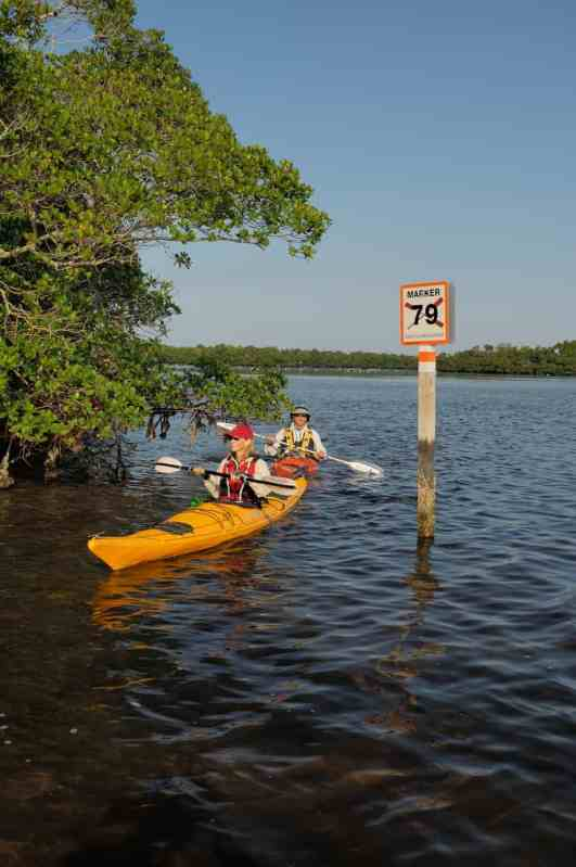 Marker on Great Calusa Blueway
