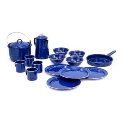 GSI Outdoors Enamel Cookware Set